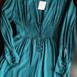Free People Turquoise Romper